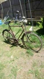 Men, bike 1950 3 speed rudge British made original condition gwo quick sale