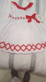 Girls Spanish Dress Age 6 Years Bnwt