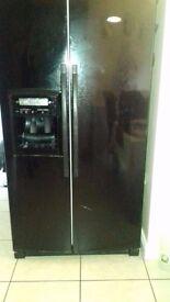 Black American fridge freezer