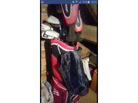 Set of Dunlop golf clubs with bag 30.00