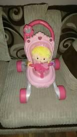 Baby walker & doll