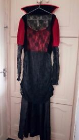 MAKE AN OFFER | Halloween Outfit M/L | Victorian Burlesque Vampire | Red Velvet, Lace | Rotherham