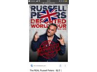 Russell Peters 2 x tickets Birmingham show 24 April 2018 amazing seats