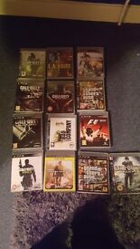 Ps3 with custom controller 13 games including GTA V and most CODS no HDMI cable included