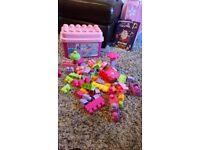 Pink mega blocks 60 box