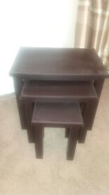 faux leather nest of tables