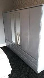 Sky Grey Fitted Wardrobes