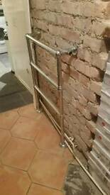Radiator towel rail chrome
