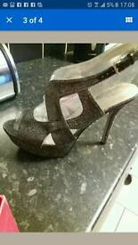 black Debenhams shoes size 7