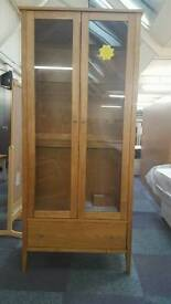 2door 1draw solid oak display