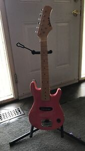 Pink Stratocaster Electric Guitar