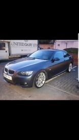 BMW 320i m Sport COUPE IN GREY, LOW MILES, AUTOMATIC, FULL LEATHER HEATED SEATS
