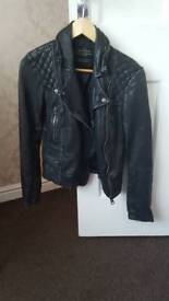 All Saints Cargo Leather Biker Jacket 8