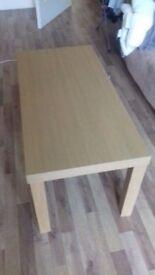 coffee table / 90cm long / oak wood