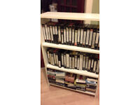Films / Cartoons etc on 78 VHS Tapes PLUS bookcase for Storage! BARGAIN !!!