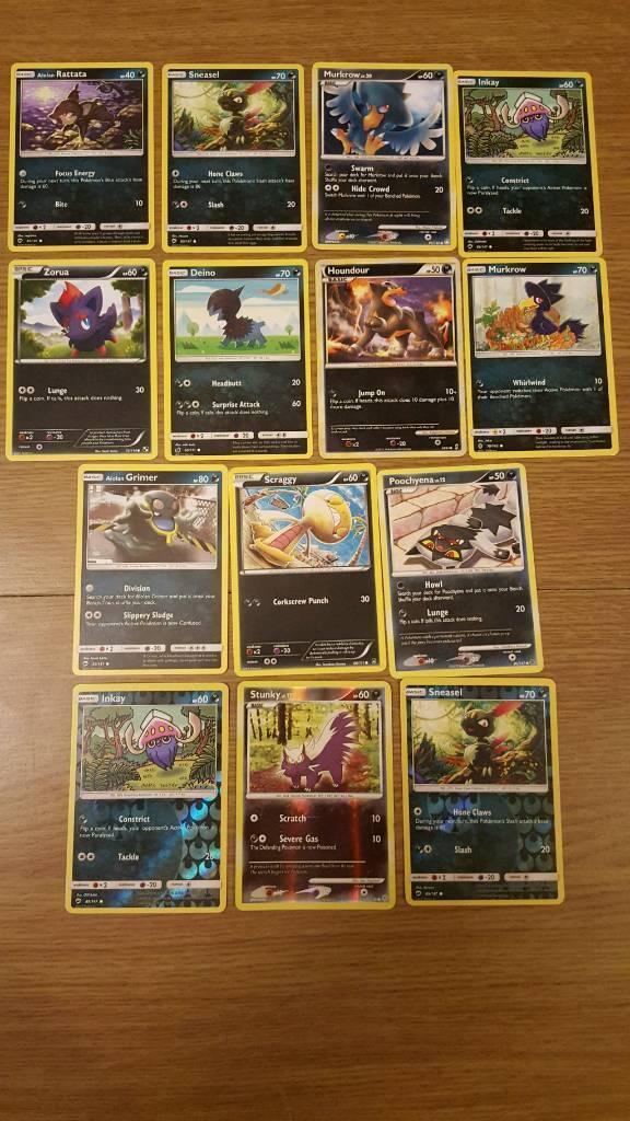 Dark type pokemon cards