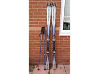 Sigma blizard sport carve180 hybrid RC ski 180 cm in good used condition with two set of poles!