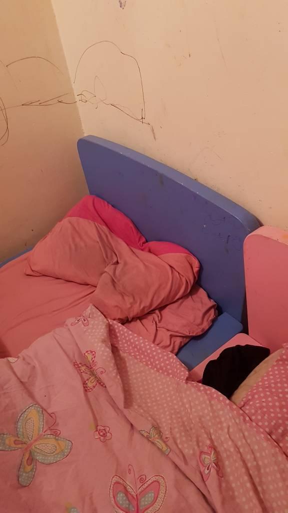 Toddler blue bed