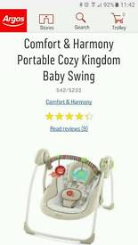Baby comfort soothing swing