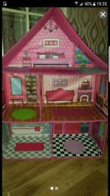 Foldable Barbie house large