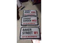 CUSHIONS - LONDON NAMES - ABBEY ROAD - BAKER STREET - COVENT GARDEN