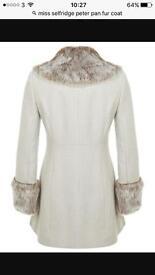 Miss selfridge Peter Pan coat
