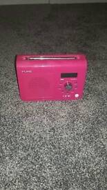 Pure one DAB Digital Radio in pink