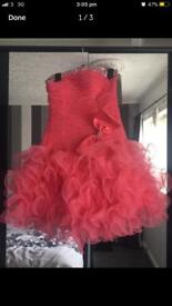 Short pink prom dress, with shoes