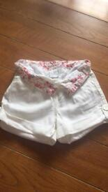 Jasper Conran junior girls shorts 18-24 months