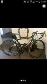 Carbon fibre road bike with sram red 22 and dura ace 9000