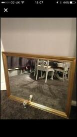 Massive mirror 44 by 34 inches gold finish