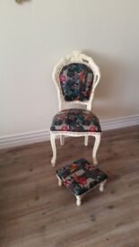 Shabby Chic Chair & Footstool £69 ono