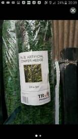 4x rolls of artificial conifer hedging