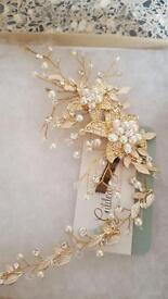 Gold and Rose gold Bridal hair accessory