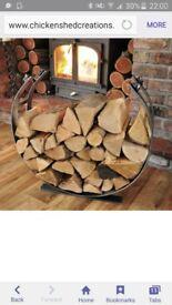 log holder hand mafe by blacksmith