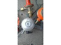 Selection of gas bottle regulator valves.£3 each.