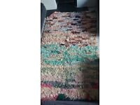 Beautiful authentic Moroccan boucherouite rag rug for sale