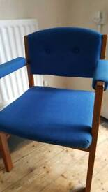 1970s Blue Chair