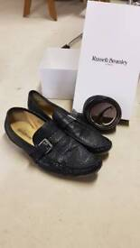 Russel & Bromley shoes and belt size 9uk