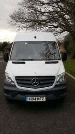 Mercedes Sprinter 313 CDI, 2014 High roof, LWB, Private Owner, Superb Condition, Very Low Mileage