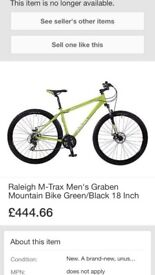 Raleigh m trax, green