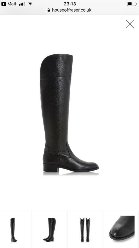 New DUNE over knee leather boots.