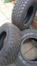 Car tyres 235/75/15 AT like new