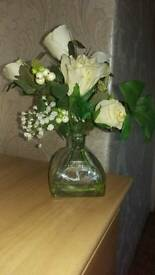 Beautiful peony flowers in vase