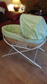 Moses basket stand nice condition