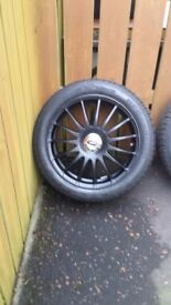 "17"" Alloys and Tyres"