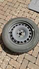 Dunlop SP SPORT 01 TYRE and steel wheel