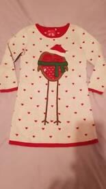 Christmas dress robin age 3-4