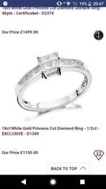 Stunning dimond ring 1/2 ct