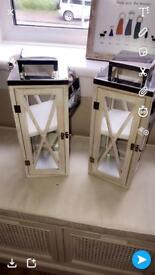 Wooden and silver large lanterns
